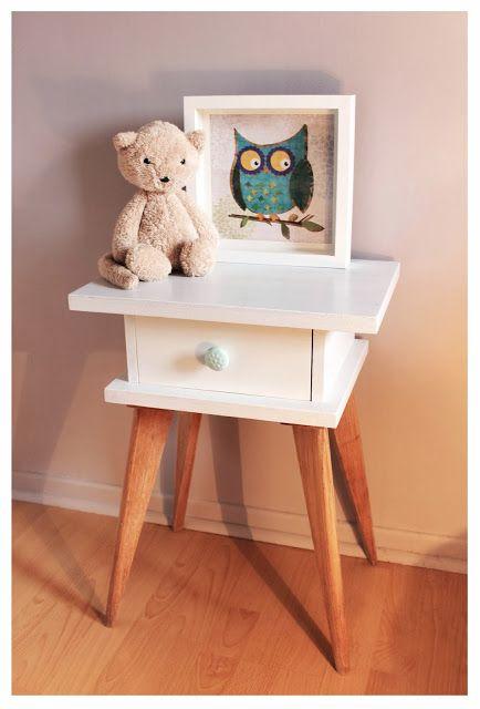 Divin'iD le blog déco: Relooking chevet vintage - Vintage bedside table makeover