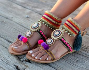 Legare i sandali gladiatore sandali greci Pom di DimitrasWorkshop
