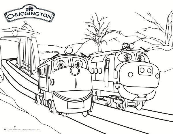 Chuggington Snow Rescue Coloring Page Szinezo Gyerekek