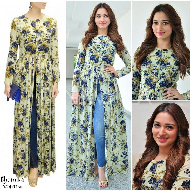 Tamannaah in Bhumika Sharma paired with gold ankle straps from Steve Madden.