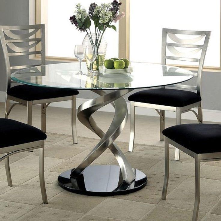 Best 20 Black dining tables ideas on Pinterest Black  : b83d3b8c25f3932b2f69363a80185ea0 round pedestal dining table glass dining table from www.pinterest.com size 736 x 736 jpeg 75kB