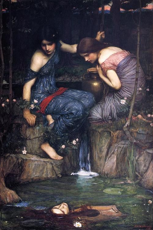 Nymphs Finding the Head of Orpheus by John William Waterhouse