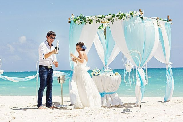 Радостная и солнечная свадьба на пляже в Доминикане от агентства Kolibri A joyful and sunny beach wedding in Dominican Republic by Kolibri wedding agency