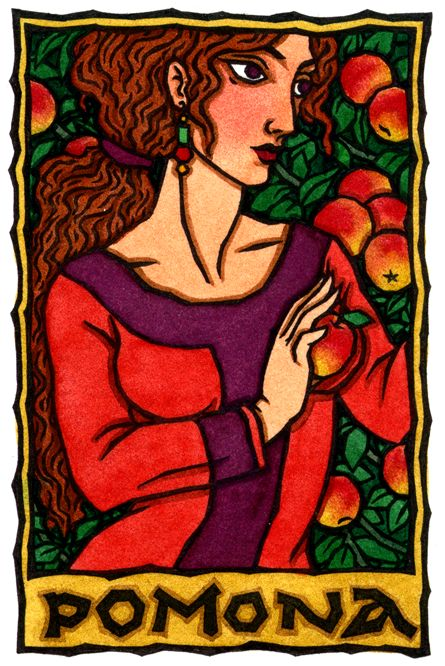 Pomona, Roman Goddess of Orchards and Gardens by Thalia Took