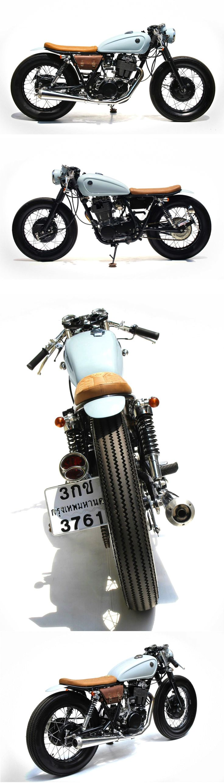 Yamaha SR400 by The Sports Customs, Bangkok, Thailand.