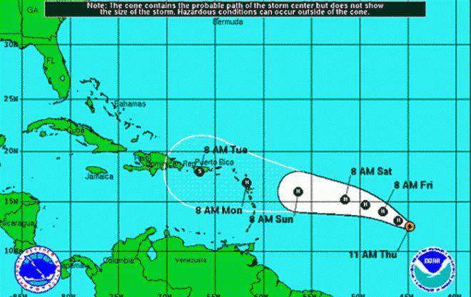 Puerto Rico e Islas Vírgenes se prepararan para llegada de huracán Danny