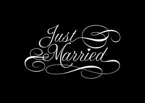 Just Married car sign vinyl decal 23 x 13 by glassden on Etsy