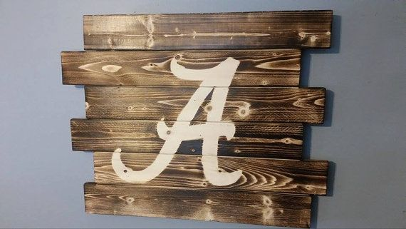 University of Alabama wall art by CarolinaPalletDesign on Etsy