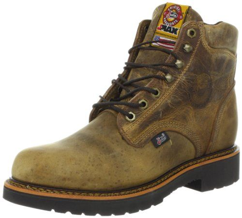 """Justin Original Work Boots Men's J-Max Work Boot #shoes http://www.theshoespack.com/justin-original-work-boots-mens-j-max-work-boot/ Justin Original Work Boots Men's J-Max Work Boot Justin Boots has the American working man covered These Justin work boots boast a Rugged Gaucho leather foot under a matching 8"""" lace-up leather shaft. Single stitched welt. Soft round toe."""