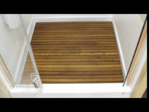 DIY Teak Shower Floor|Shower Insert|Spa|Steam Room Floor and Seating|Pool|HotTub|Outdoor Shower - YouTube