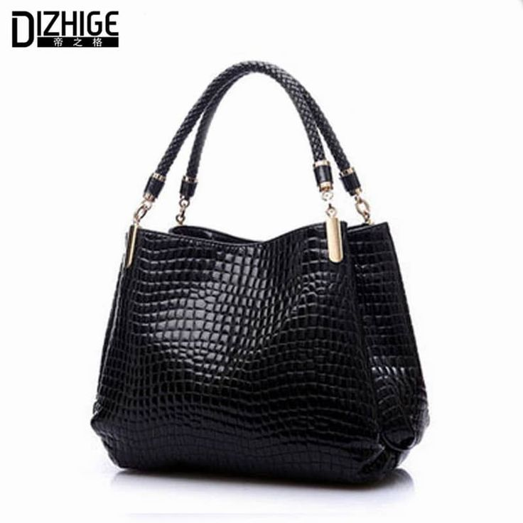 Ladies Shoulder Bag Alligator Leather Design Handbag //Price: $29.95 & FREE Shipping //     #me
