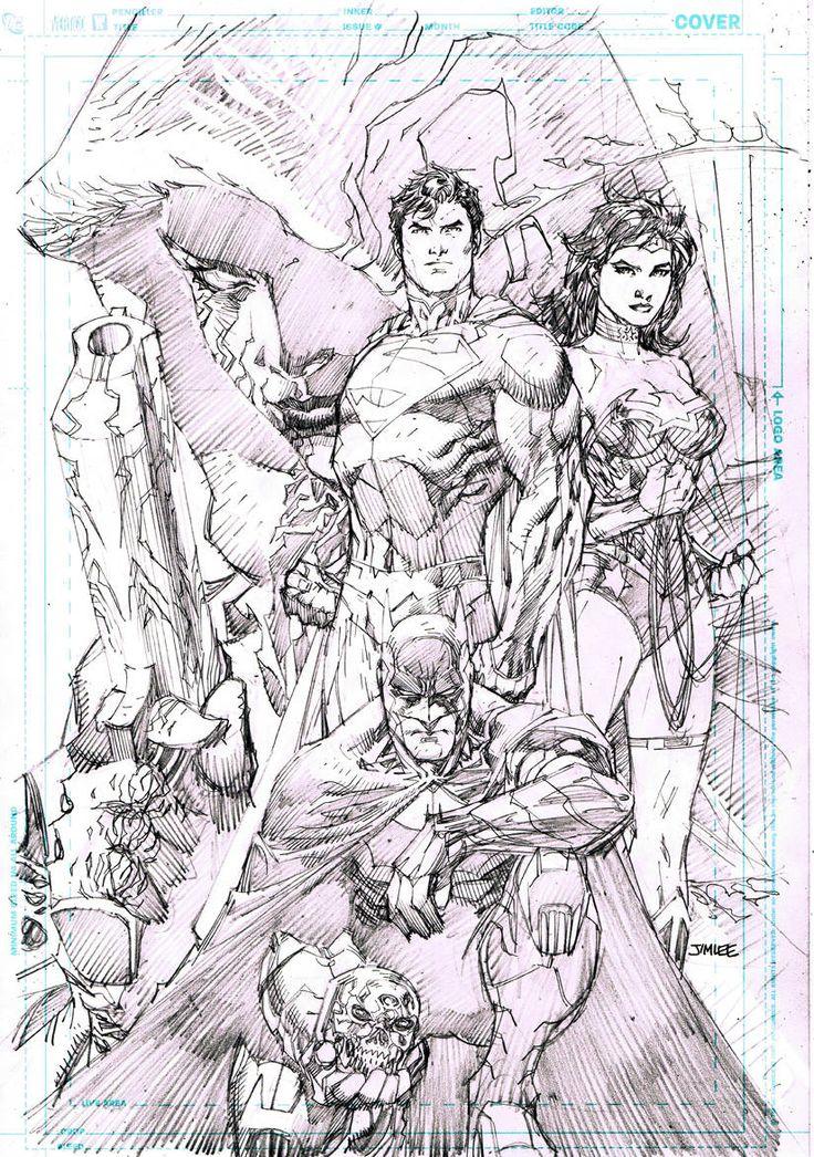 DC Comics – The New 52 FCBD Edition / Superman, Batman, Wonder, Woman, Pandora / Pencil art by Jim Lee