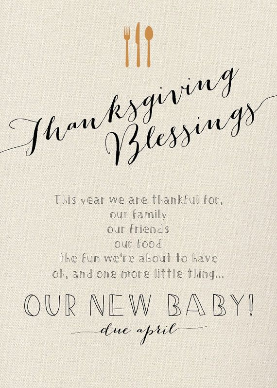 Thanksgiving Pregnancy Announcement Modern Pregnancy by LCOonEtsy