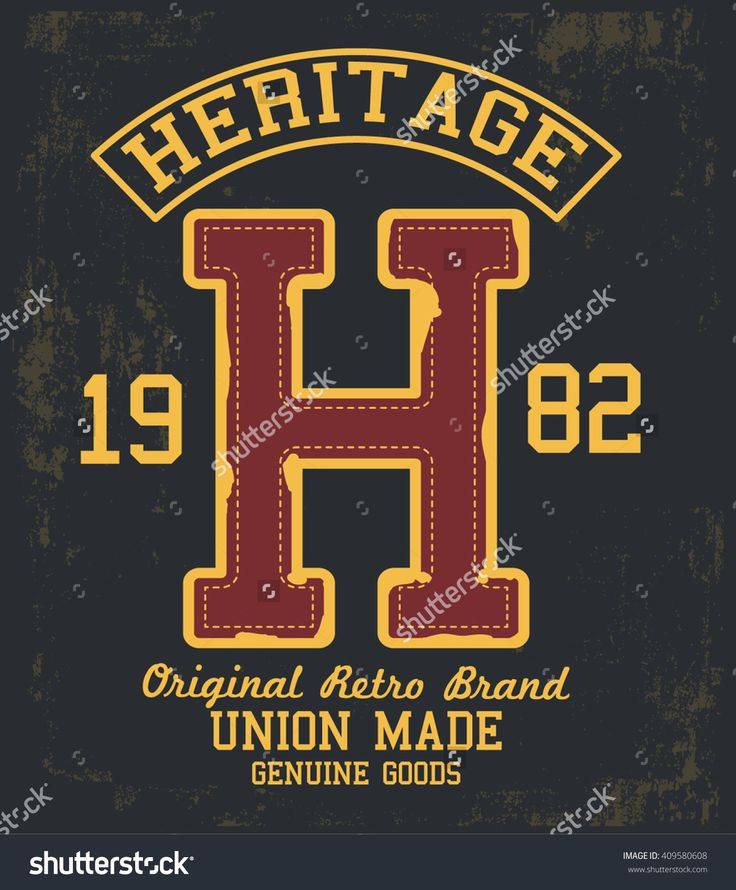 Heritage vector label and print design for t shirt