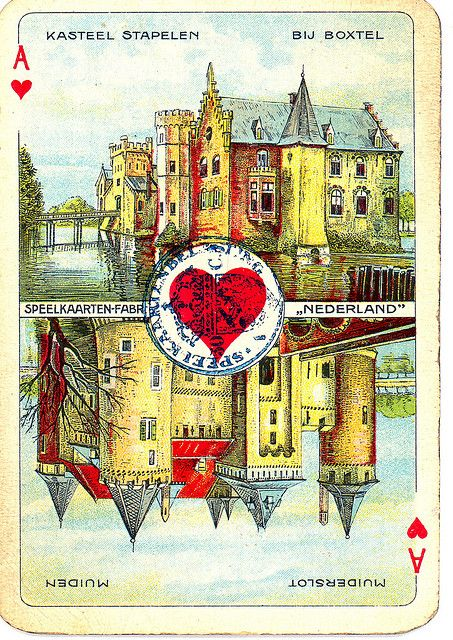 Dutch playing cards from 1920-1927: Ace of Hearts by Michiel2005, via Flickr