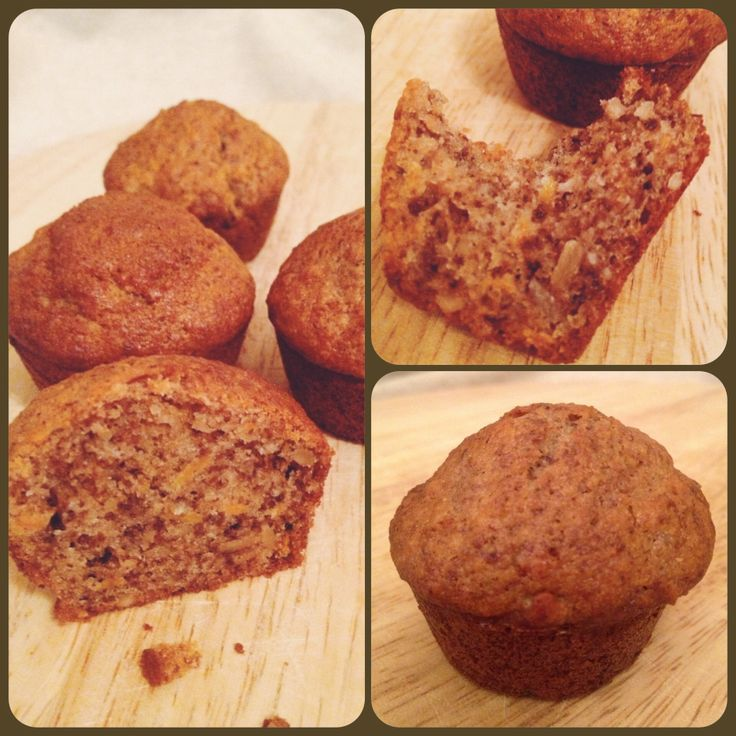 walnut and carrot mini muffins. Yummy!
