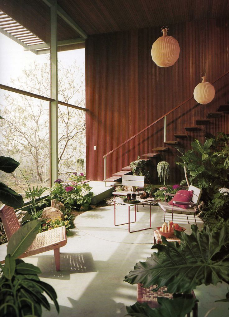 midcentury plant life. #interiorarchitecture