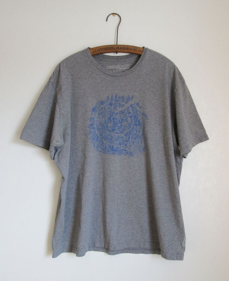 PATAGONIA Gray Soft Organic Cotton T-Shirt XL Common Threads Recycling Program #Patagonia #GraphicTee