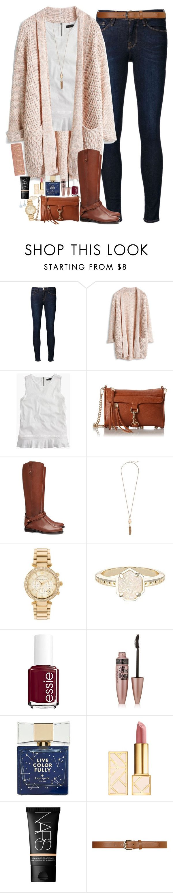 """""""Comment To Be On My Tag List!"""" by teamboby ❤ liked on Polyvore featuring moda, Frame Denim, J.Crew, Rebecca Minkoff, Tory Burch, Kendra Scott, Michael Kors, Essie, Maybelline y Kate Spade"""