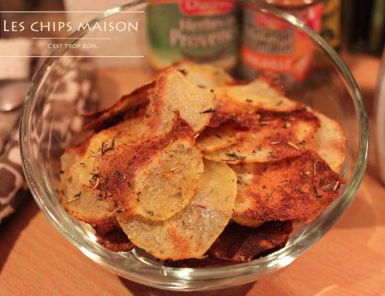 Croustilles de pommes de terre cuites au four aux herbes de Provence et paprika