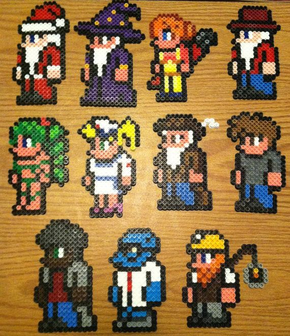 The one with the green hair is wearing a swim suit terraria bp perler beads