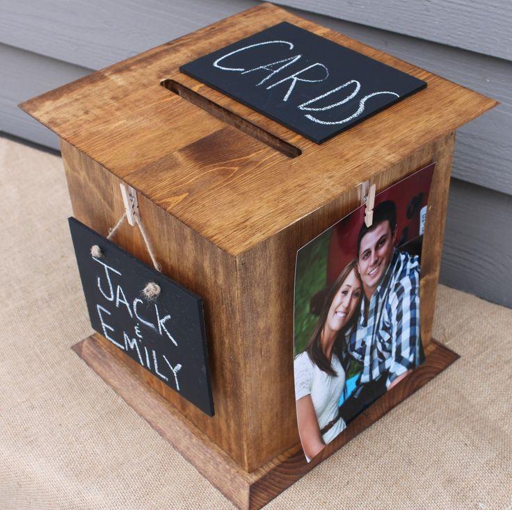 wood wedding card holders%0A The Perfect Card Box  Wedding Card Box Rustic Wood          http