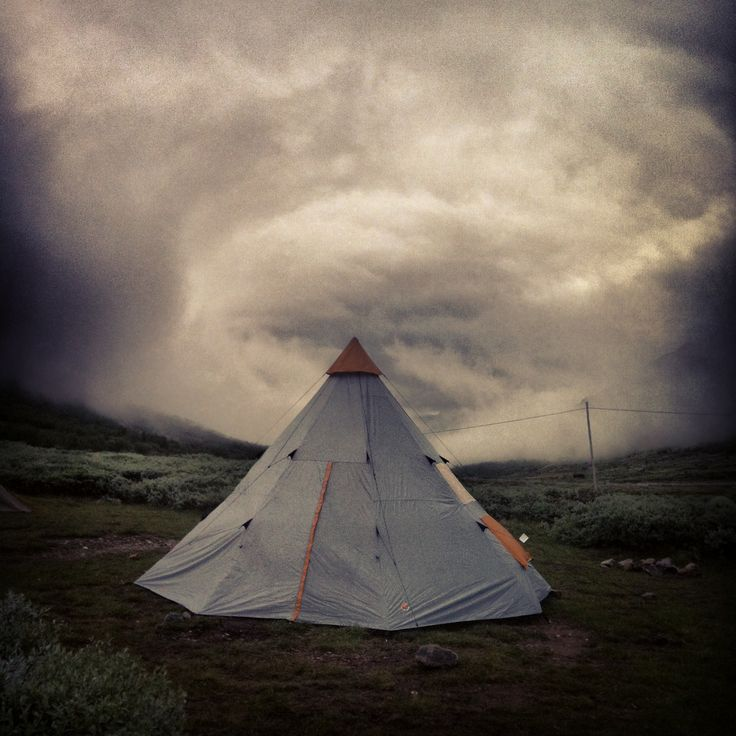 #mountain #tent #storm #windy #norway #instagram