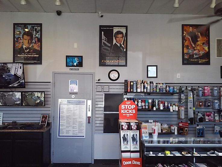 A nice fresh coat of paint makes the James Bond posters pop right out nicely!