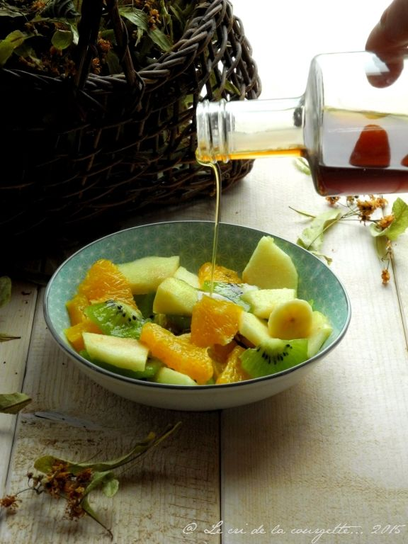 Salade de fruits d'hiver au sirop de tilleul