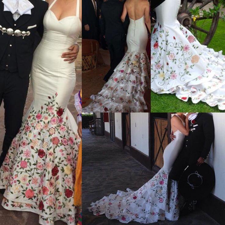 Ana patricias wedding dress. Beautiful  simple  unique