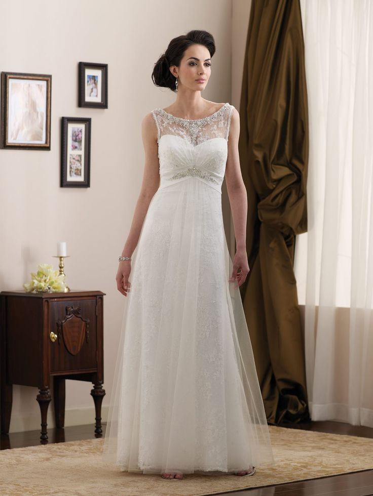 Fresh Gold embroidered English net over sherbet tulle bridal ball gown sweetheart neckline elongated bodice