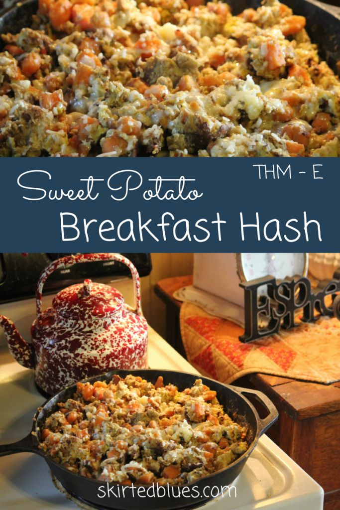 Sweet Potato Breakfast Hash Recipe, THM - E
