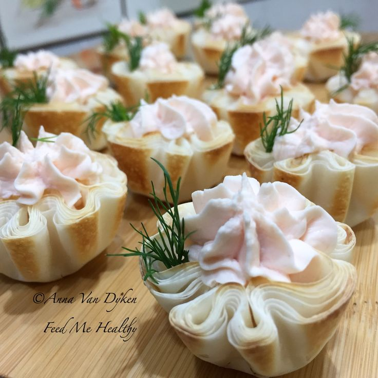 Salmon Filoettes With Sprig Of Dill