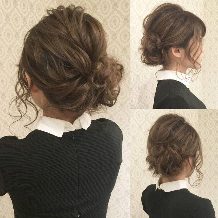 トップをコテでゆるく巻いて 右下に寄せたアップ おくれ毛は多めに細く出して すっきりしすぎないように! 着物にも合いますよ! #ヘア #ヘアメイク #ヘアアレンジ #結婚式 #結婚式ヘア #サロモ #東海プレ花嫁 #ウェディング #和装ヘア #バニラエミュ #セットサロン #ヘアセット #アップスタイル #成人式#プレ花嫁 #和装前撮り #前撮り #成人式ヘア #和装 #撮影 #着物ヘア#色打掛#2016秋婚 #ゲストヘア #photo  #hair #wedding #beauty #hairmake