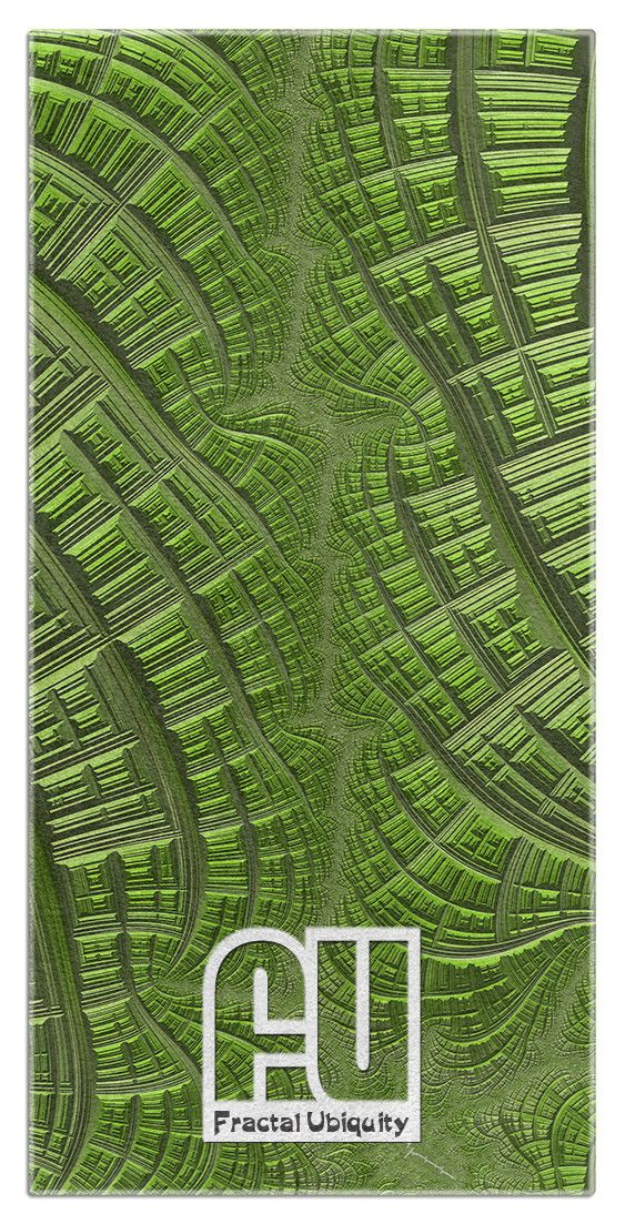 Fractal City Microfiber Polyester Oversized Beach Towel