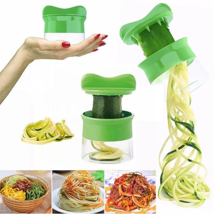 Spiral Vegetable Fruit Slicer Cutter Grater Twister Peeler Kitchen Gadgets Tools #Unbranded