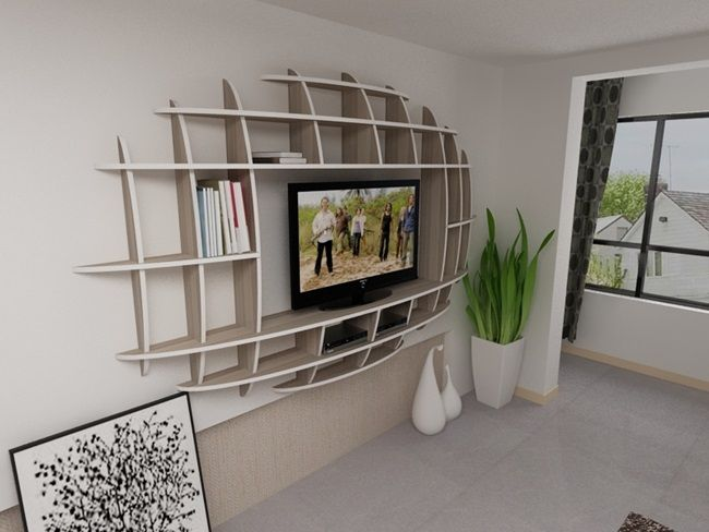 Modern 3d Shelf Unit for Your Living Room - http://www.amazinginteriordesign.com/modern-3d-shelf-unit-for-your-living-room/