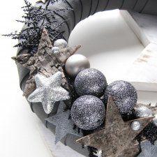 SKÓRZANY świąteczny wianek