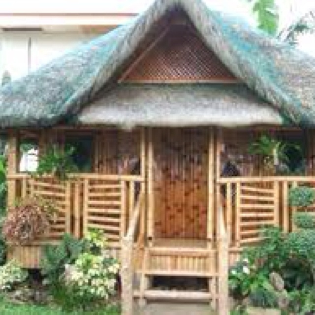 how to draw bamboo house