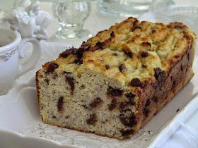 Cake bananes-chocolat aux farines de noix de Coco et de riz, sans gluten et sans lactose