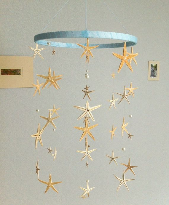 Starfish Sea Stars And Pearls Mobile Hanging By FactoryOfIdeas Sea