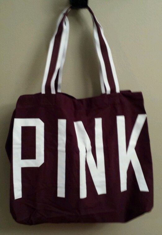 Victoria's Secret PINK Oversize Large Tote Bag Travel Plus $10 off Coupon VS