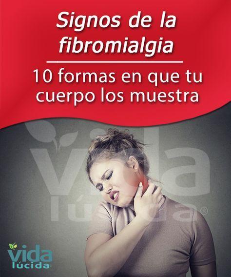 """10 formas en que tu cuerpo muestra los signos de la fibromialgia. 1-Dolores desde la cabeza hasta los pies. 2-Fatiga persistente o agotamiento. 3-Rigidez del cuerpo. 4-Sueño de mala calidad. 5-""""Puntos gatillo"""" que evocan dolor o sensibilidad. 6-Digestión anormal. 7-Entumecimiento, hinchazón y hormigueo. 8. Espasmos de los dedos de las manos y de los pies. 9-Sensibilidad a la temperatura. 10-""""Fibro niebla"""""""