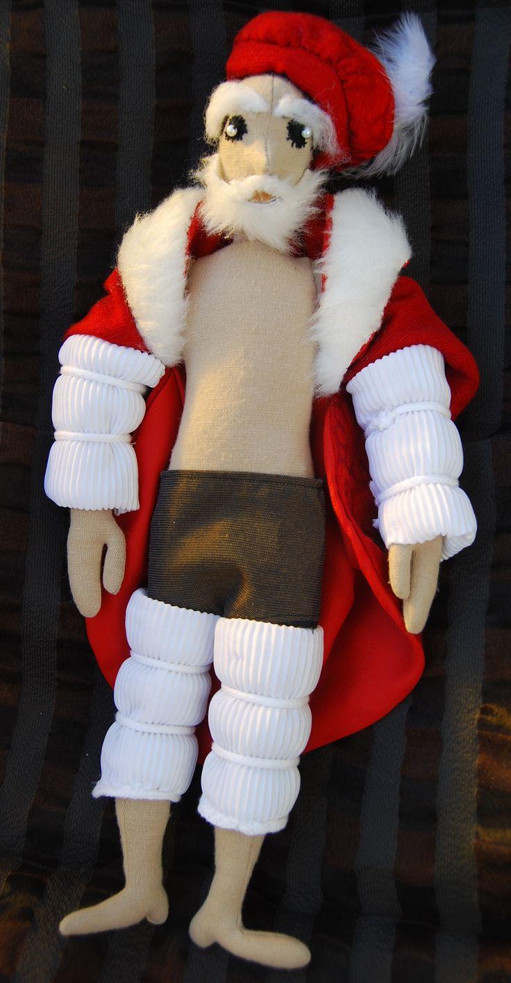 Reneszánsz Mikulás egyelőre fél pucéran /  Textile Santa Claus half-naked