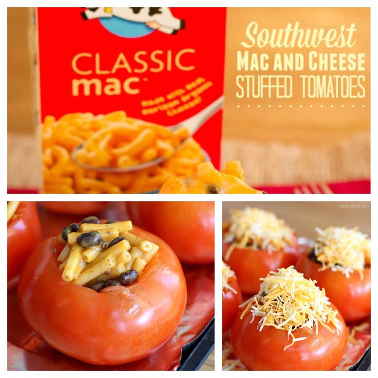 Make Mac & Cheese the whole family will love! These Southwest Stuffed Tomatoes are sure to please both kids and adults. You can find the full recipe from The @wearychef http://wearychef.com/southwest-mac-cheese-stuffed-tomatoes/
