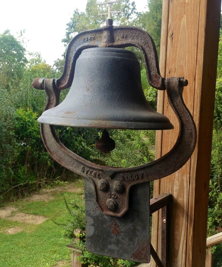 This is a VERY RARE #62 antique cast iron school/church/dinner bell with metal wall bracket. It comes complete with all working parts...the coolest thing about this bell is when it was made, 1882...now that's old!