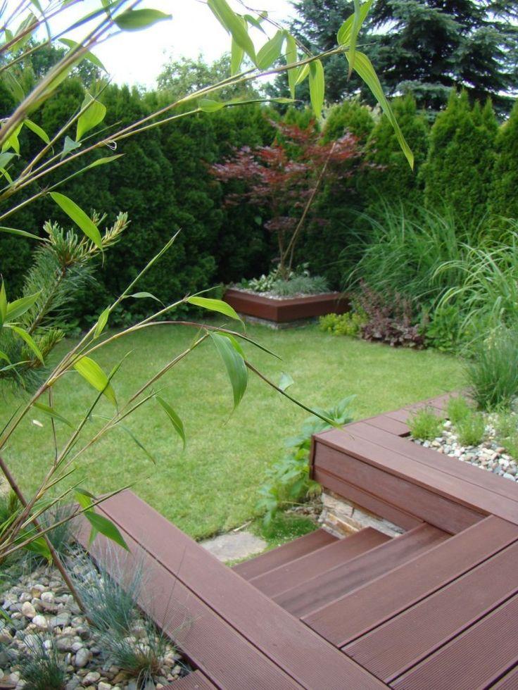 W #Japońskim Klimacie - #mały #ogród #miejski przy szeregowcu In #Japanese Style - terraced house #small #urban #garden