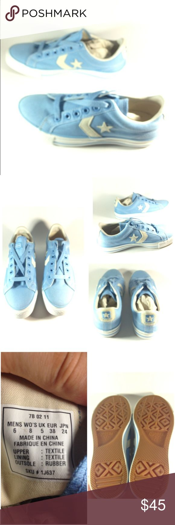 NWOT Vintage Light blue Converse star player Brand new never worn! Vintage baby blue Converse. No box b Converse Shoes Sneakers