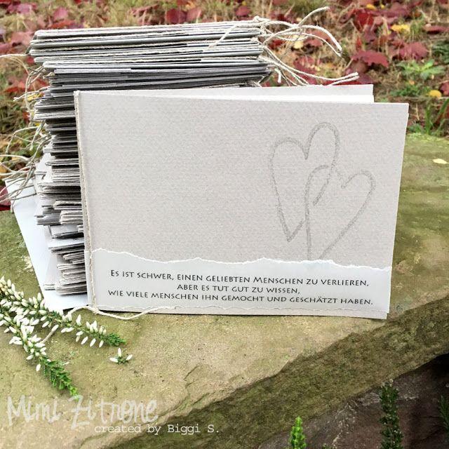 MIMI ZITRONE: Trauer-Dankeskarten