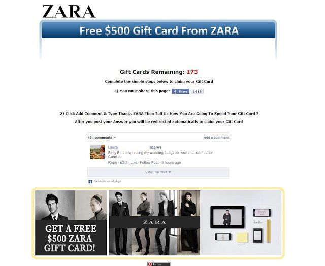 Win a £500 ZARA gift card! Enter the contest and earn the